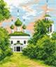 "Канва с рисунком ""Храм"" 1 шт. (482) 16см х 20см"