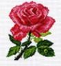 "Канва с рисунком ""Роза "" 1 шт. (512) 20см х 22см"