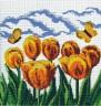 """Набор для вышивки """"Желтые тюльпаны"""" 1 шт. (""""М.П.Студия"""" БК-19) 27см х 27см"""