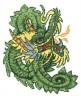 """Набор для вышивки """"Дракон зеленый"""" 1 шт. (""""РС студия"""" С-700 Н) 35см х 35см"""
