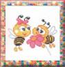 """Набор для вышивки """"Пчелки"""" 1 шт. (""""РС студия"""" 464) 12см х 15см"""