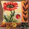 """Набор для вышивки """"Маки"""" подушка 1 шт. (""""Collection D'Art"""" 5015) 40см х 40см"""