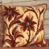 """Набор для вышивки """"Лилия. Коричневый"""" подушка 1 шт. (""""Collection D'Art"""" 5018) 40см х 40см"""