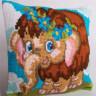 """Набор для вышивки """"Мамонтенок Дейзи"""" подушка 1 шт. (""""Collection D'Art"""" 5068) 40см х 40см"""