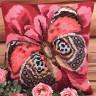 """Набор для вышивки """"Элегантная бабочка"""" подушка 1 шт. (""""Collection D'Art"""" 5078) 40см х 40см"""
