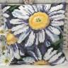 """Набор для вышивки """"Маргаритки"""" подушка 1 шт. (""""Collection D'Art"""" 5109) 40см х 40см"""