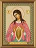 """Набор для вышивки """"Пр. Богородица Помощница в родах"""" 1 шт. (""""Nova Sloboda"""" 6012) 13см х 18см"""