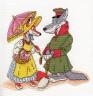 """Набор для вышивки """"Волк и лиса"""" 1 шт. (""""Кларт"""" 8-109) 21см х 21см"""
