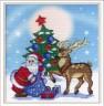 """Набор для вышивки """"Дед Мороз"""" на дизайнерской канве 1 шт. (""""М.П.Студия"""" РК-313) 22см х 21см хлопок-100%"""