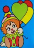 """Набор для раскрашивания цв.песком """"Клоун"""" блистер 1 шт. (""""Hobbius"""" KFP/S)"""
