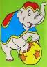 """Набор для раскрашивания цв.песком """"Слон в цирке"""" блистер 1 шт. (""""Mr. Painter"""" KBK/S)"""