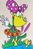 """Набор для раскрашивания цв.песком """"Первый заплыв"""" блистер 1 шт. (""""Hobbius"""" KFP/S)"""