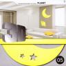 Наклейка для украшения помещений декоративная 3D Месяц и планета блистер 1 шт. (05)