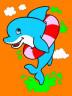 """Набор для раскрашивания цв.песком """"Веселый дельфин"""" блистер 1 шт. (""""Hobbius"""" KFP/S) 22.5см х 16см"""