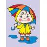 """Набор для раскрашивания цв.песком """"Под дождем"""" блистер 1 шт. (""""Mr. Painter"""" KBK/S) 22.5см х 16см"""