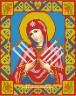 Набор для изготовления картины из страз Икона Семистрельная Богородица 1 шт. (АЖ-2009) 22см х 28см