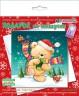 """Набор для изготовления открытки """"Подарок от мишутки"""" 1 шт. (""""клеvер"""" АБ 23-534) 13.5см х 13.5см"""