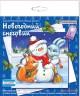 """Набор для изготовления открытки """"Новогодний снеговик"""" 1 шт. (""""клеvер"""" АБ 23-535) 13.5см х 13.5см"""