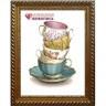 """Набор для изготовления картины из страз Коллекция чашек коробка 1 шт. (""""Алмазная живопись"""" АЖ-1437)"""