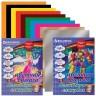 Бумага цветная мелованная волшебная 10л. 10 шт. (BRAUBERG 124786) 200см х 275мм