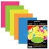 Бумага цветная флуоресцентная, самоклеящаяся 10л. 10 шт. (BRAUBERG 124722) 210см х 297мм