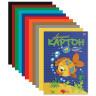 Картон цветной мелованный 10 цветов папка 10 шт. (HATBER VK 10Кц4 03230) 195мм х 290мм