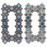 """Декор со стразами """"Лира"""" (стразы св.сиреневые/голубые) 1 шт. (""""Micron"""" GB 1423) 61мм х 32мм"""
