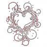 Термотрансфер сердце 1 шт. (RTM- 75) 8.2см х 10.4см