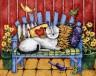 "Набор для вышивки ""Кошки на веранде"" 1 шт. (""Dimensions"" 20056) 36см х 28см"