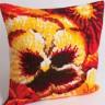 """Набор для вышивки """"Лето"""" подушка 1 шт. (""""Collection D'Art"""" 5095) 40см х 40см"""