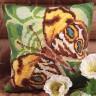 """Набор для вышивки """"Зеленая бабочка"""" подушка 1 шт. (""""Collection D'Art"""" 5080) 40см х 40см"""