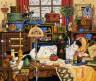 """Набор для вышивки """"Кот на швейном столе"""" 1 шт. (""""Dimensions"""" 03884) 36см х 30см"""