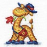 """Набор для вышивки """"Жираф на прогулке"""" 1 шт. (""""Panna"""" Д-0171) 10см х 11см"""