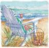 """Набор для вышивки """"Морской пейзаж"""" 1 шт. (""""Dimensions"""" 70-65102) 15см х 15см"""