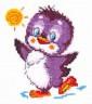 """Набор для вышивки """"Крошка-пингвиненок"""" 1 шт. (""""Чудесная Игла"""" 18-49) 11см х 12см"""