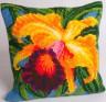 """Набор для вышивки """"Орхидея"""" подушка 1 шт. (""""Collection D'Art"""" 5008) 40см х 40см"""