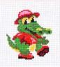 """Набор для вышивки """"Крокодил"""" 1 шт. (""""Panna"""" Д-0215) 9см х 9см"""