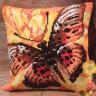 """Набор для вышивки """"Огненная бабочка"""" подушка 1 шт. (""""Collection D'Art"""" 5077) 40см х 40см"""