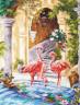 """Набор для вышивки """"Розовые фламинго"""" 1 шт. (""""Чудесная Игла"""" 64-02) 30см х 39см"""