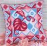 """Набор для вышивки """"Листочек"""" подушка 1 шт. (""""Panna"""" ПД-560) 36см х 36см"""