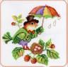 """Набор для вышивки """"Птичка с зонтиком"""" 1 шт. (""""Panna"""" ПТ-0533) 17.8см х 17.8см"""