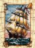"""Набор для вышивки """"Кораблик"""" 1 шт. (""""Dimensions"""" 06847) 13см х 18см"""