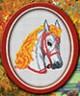 """Набор для вышивки """"Лошадь"""" 1 шт. (""""Lutars"""" №002) 13см х 15см"""