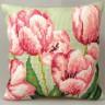 """Набор для вышивки """"Тюльпаны"""" подушка 1 шт. (""""Collection D'Art"""" 5070) 40см х 40см"""