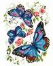 """Набор для вышивки """"Синие бабочки"""" 1 шт. (""""Чудесная Игла"""" 42-03) 14см х 18см"""