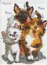 """Набор для вышивки """"Три кошки"""" 1 шт. (""""Janlynn"""" 038-0208) 12.7см х 17.8см"""