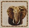 """Набор для вышивки """"Слон"""" 1 шт. (""""Panna"""" Ж-0168) 24.3см х 23.4см"""