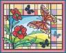 """Набор для вышивки """"Витраж с бабочкой"""" 1 шт. (""""Panna"""" ВИ-0329) 28.5см х 22.5см"""