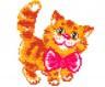 """Набор для вышивки """"Котик"""" 1 шт. (""""Чудесная Игла"""" 15-07) 10см х 12см"""