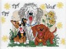 """Набор для вышивки """"Три собаки"""" 1 шт. (""""Janlynn"""" 038-0204) 17.8см х 12.7см"""
